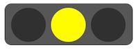 交通信号機、黄色