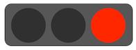 交通信号機、赤色